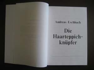 Foto Typoskript Haarteppichknüpfer