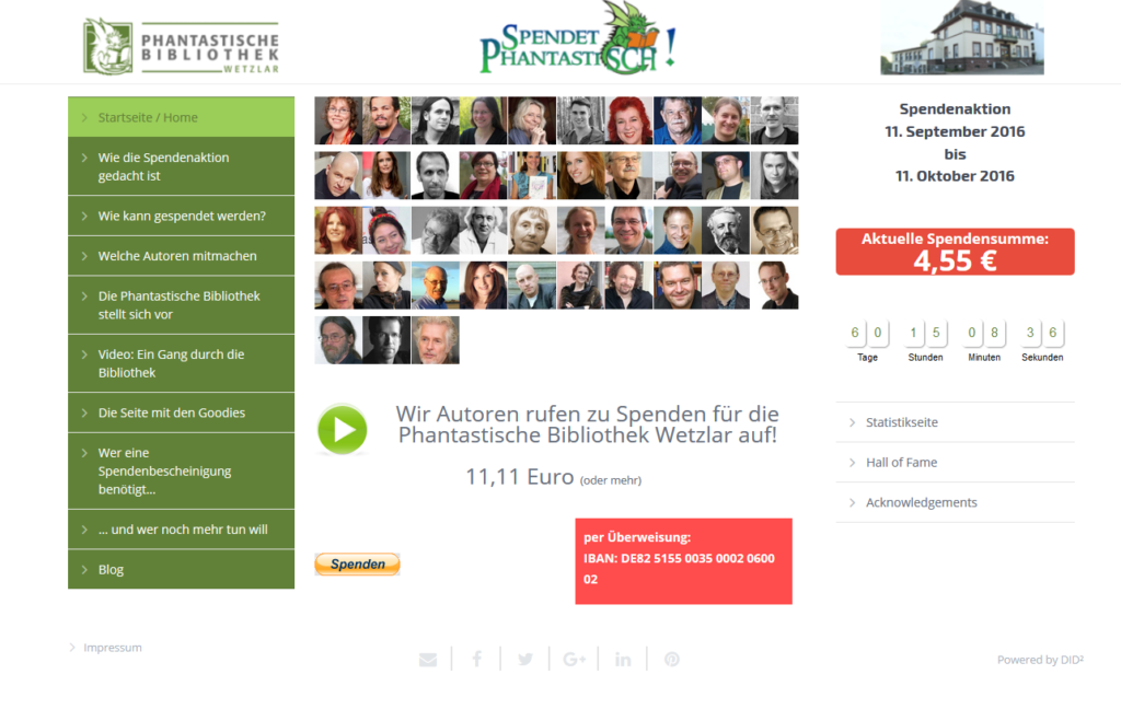 Spendenwebsite